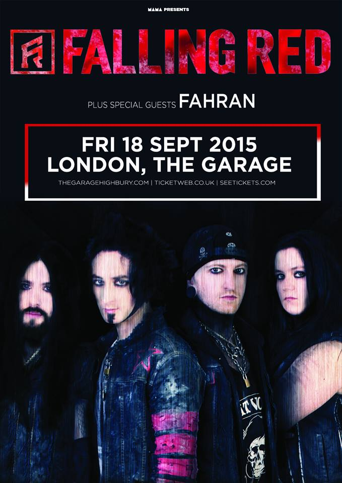 Falling Red London Garage poster
