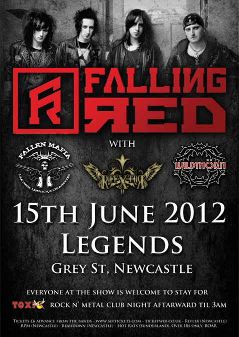 Falling Red - Legends, Newcastle