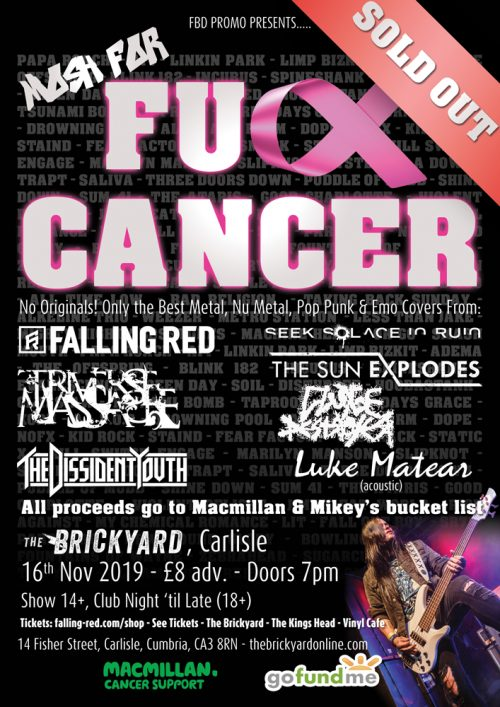 Mosh For Fuck Cancer Poster