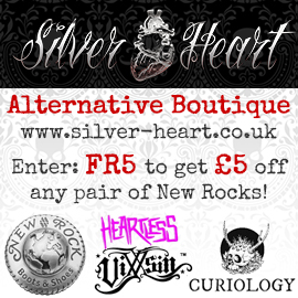 silver heart alternative boutique - £5 off New Rocks
