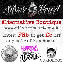 silver heart alternative boutique - £5 off New Rocks